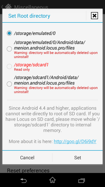 Saving offline maps on SD-card under Android 4 4 (KitKat)