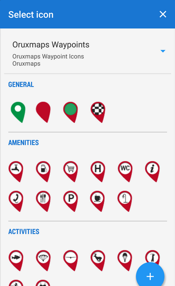 Own icon pack, icons divided into groups
